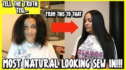 How To Do The Most Natural Looking Sew In Ever! (Minimal leave out) |Tips & Tricks| TeQuerra Miller