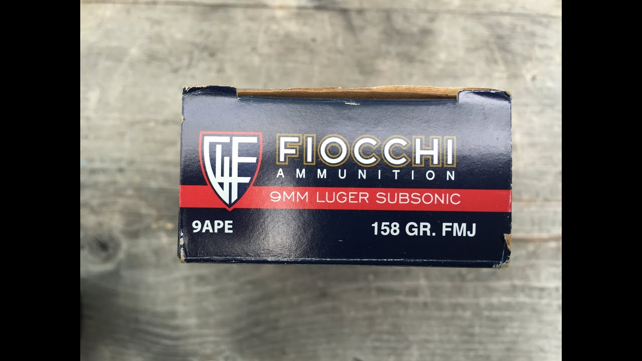 9x19mm, 158gr FMJ Fiocchi Subsonic (9APE) Velocity /Function Test