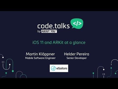 code.talks 2017 - iOS 11 and ARKit at a glance (Martin Klöppner & Helder Pereira)