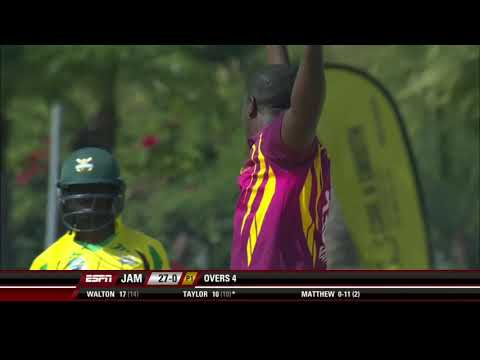 Huge cricket  sixes hit by Jamaica scorpions players