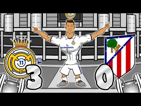 3-0! Real Madrid vs Atletico Madrid - RONALDO HAT-TRICK! (UEFA Champions League Semi-Final Parody)