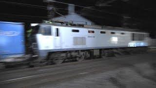 【3色揃い踏み!】深夜の貨物撮影記 EF510 ×7本 日本海縦貫線(北陸本線)福井~森田 2019年6月25日