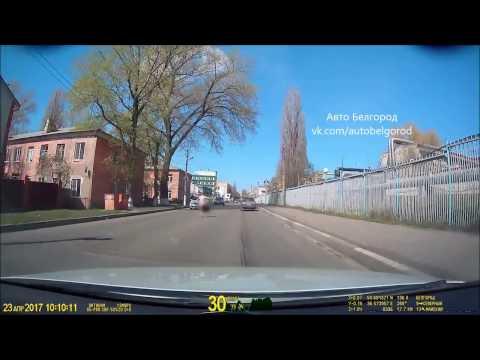 Голый мужик в Белгороде нападает на машины