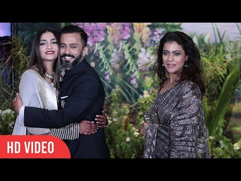 Kajol At Sonam Kapoor's Grand Wedding Party  Sonam Kapoor  Anand Ahuja Marriage Party