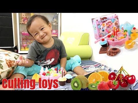 Little Kenzo Playing Cutting Toys | DIY Fruit Cake Cutting Toys | Mainan Potong Kue Ulang Tahun