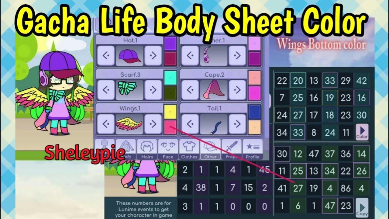 Gacha Life Body Sheet Color Secret Shout Out