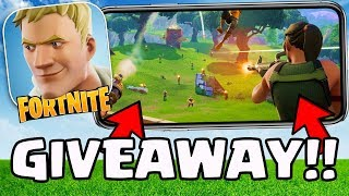 "Fortnite Mobile ""INVITE CODE GIVEAWAY!"" - *FREE IOS/ANDROID/IPHONE/IPAD NO HACK/CHEAT GIVEAWAY!*"
