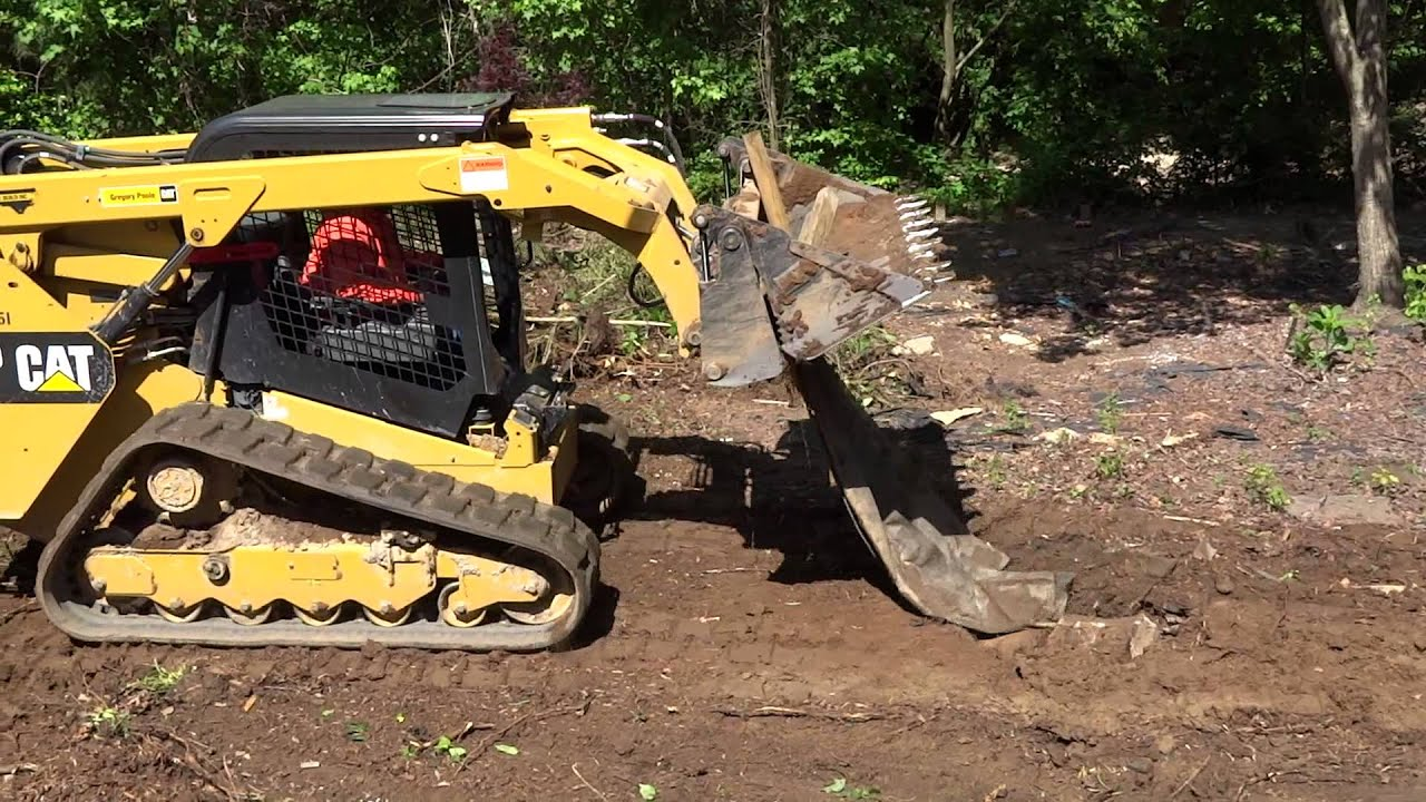 Compact Track Loader Caterpillar 299d Bobcat In Action