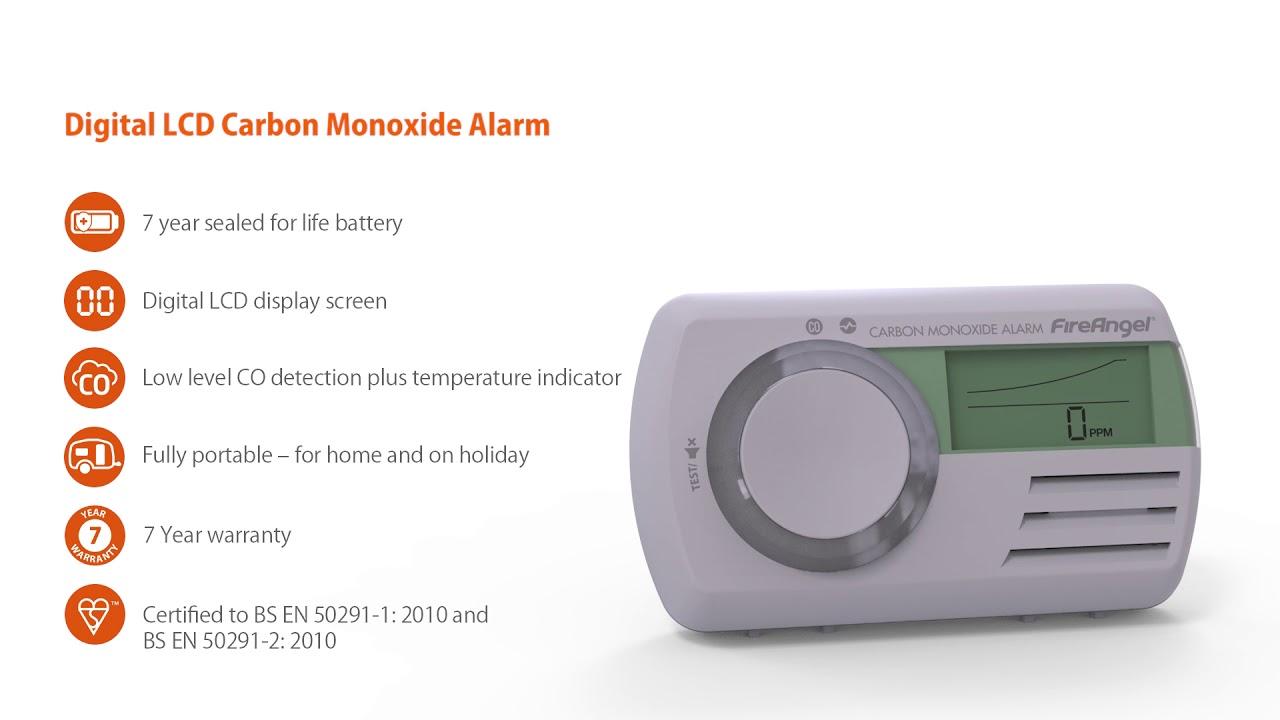 FireAngel Co9x Carbon Monoxide Detector//Alarm 7 Year Sealed Battery