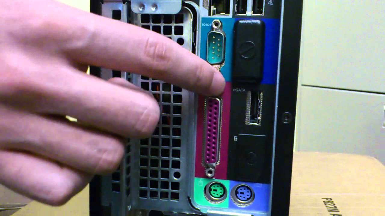 Back Of Optiplex 960 Desktop Youtube