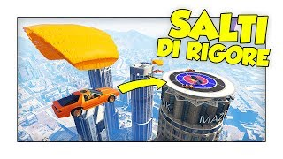 SALTI DI RIGORE CON LE AUTO VOLANTI! - GTA 5 ITA w/ Two Players One Console