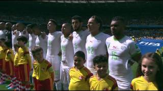 FIFA World Cup 2014 - Belgium vs Algeria National Anthems
