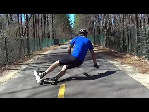 Inline Skating Fail - Face Plant, Blood and Bruises