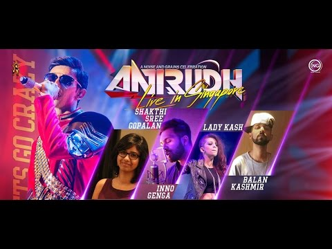02 Closer n Oh Penne mash up Anirudh Live In Singapore 2017