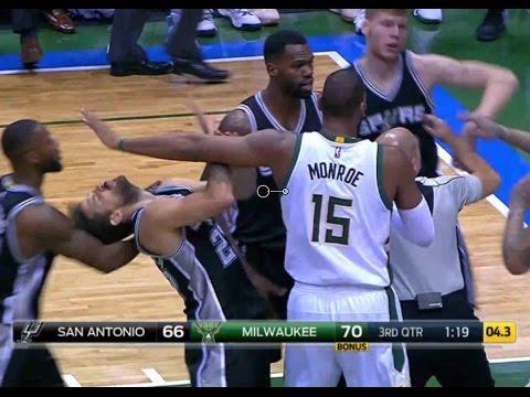 FIGHT | Spurs vs Bucks | 12\5\2016