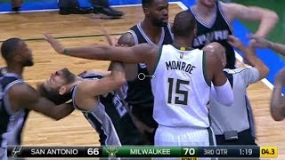 FIGHT | Spurs vs Bucks | 12\5\2016