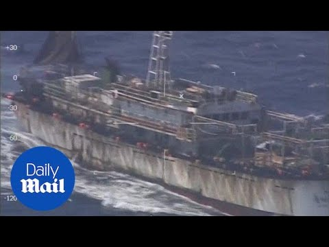 Argentina Coast Guard Sinks Illegal Chinese Fishing Boat - Daily Mail