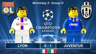Lyon vs Juventus 0-1 • Champions League 2017 (18/10/2016) goal highlights Lego Football Lione Juve
