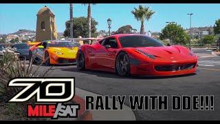 INSANE FERRARI 458 GT3 TAKES OVER 70MILE SATURDAY RALLY WITH DAILY DRIVEN EXOTICS! SUPER CAR HEAVEN!