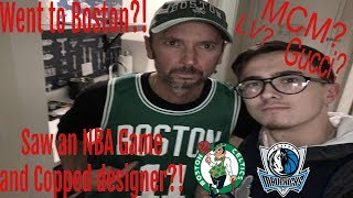 I went to Boston for an NBA game and bought designer! (Celtics, LouisV, MCM) (Episode 4.)