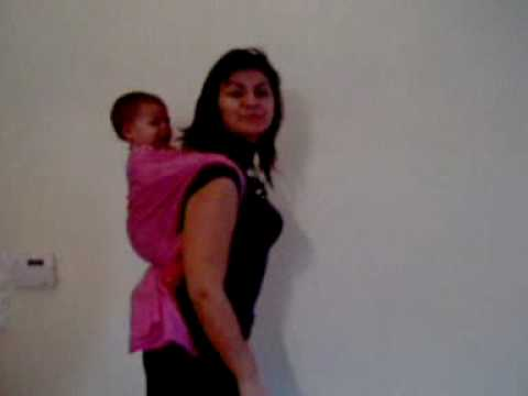 51188590c86 rucksack carry with ringsling - στην πλάτη με sling - YouTube