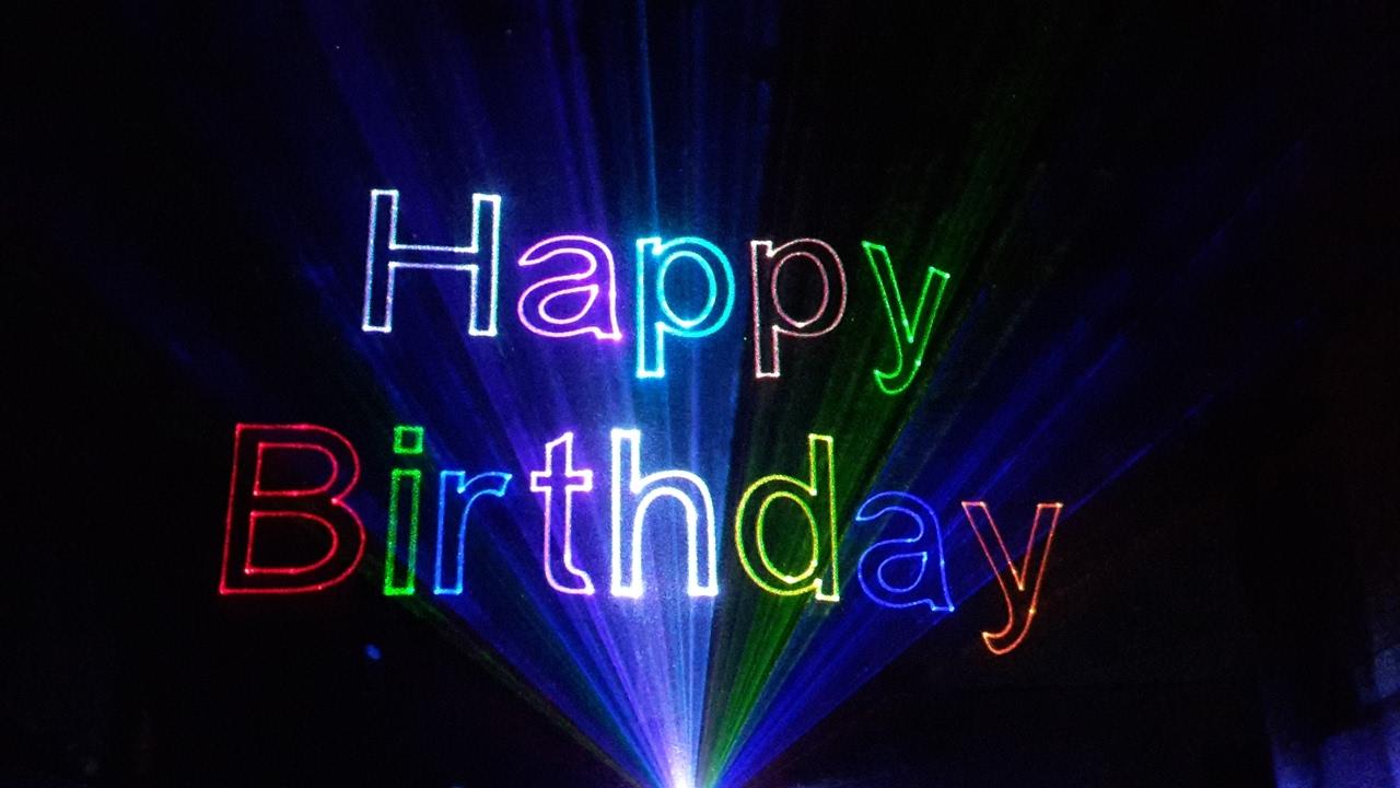 Lasershow Happy Birthday
