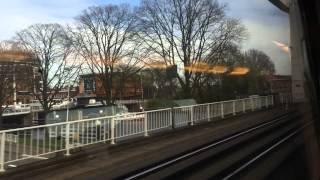 【オランダ】 ハールレム駅発車の車窓 Haarlem station, Netherlands