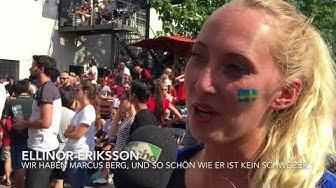 Public Viewing unter Schwedinnen und Schweden, Voltabräu Basel