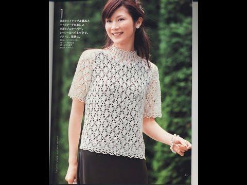 Crochet Patterns| for free |crochet blouse| 1803 - YouTube