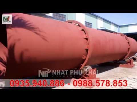 Máy sấy thùng quay sử dụng sấy hèm bia - Nhất Phú Thái
