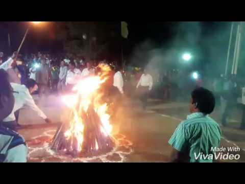 Camp fire at Guntur DIET sports meet