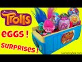 Dreamworks Trolls Chupa Chups Eggs Surprises Chocolate Plastic Easter Lollipop Opening Fun Toys Kids