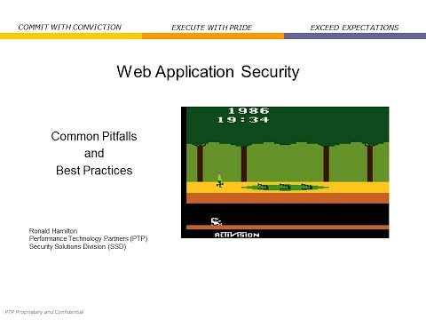 2014 Cyber Security Session 19 - Web Application Security