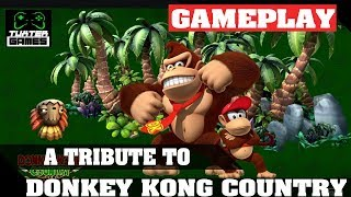 Tutorial e game play Tribute to Donkey Kong Country no Linux
