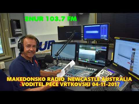 MAKEDONSKO RADIO 2NUR 103.7 FM NEWCASTLE AUSTRALIA 04-11-2017