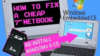 "How To - Fix a 7"" Mini Netbook Smartbook by Re-Installing Windows CE 6.0 + Device Tour"