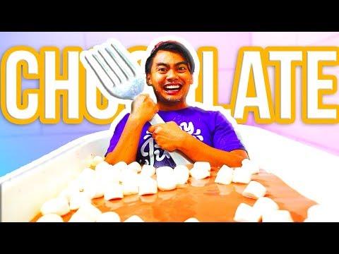 EXTREME HOT CHOCOLATE BATH CHALLENGE!