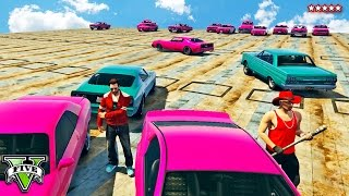 GTA 5 EPIC FUN SKY DEMOLITION DERBY - Muscle Cars On Sumo Sky Platform!! GTA 5 Funny Moments