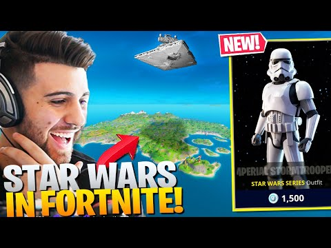 STAR WARS Comes To FORTNITE! (NEW Stormtrooper Skin & Star Destroyer!) - Fortnite Battle Royale