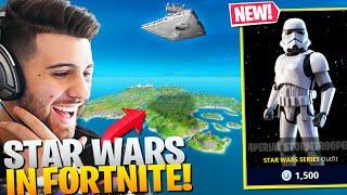 STAR WARS Comes To FORTNITE! (NEW Stormtrooper Skin & Star Destroyer!) - Fortnite Battle Royale