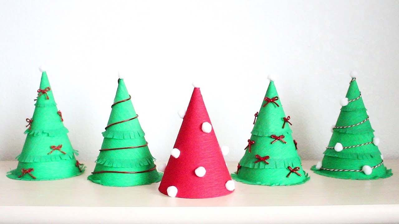 DIY Christmas Tree Party Hat - YouTube