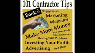 Contractor Tips Book - Money Making Ideas