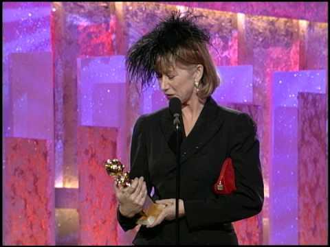 Golden Globes 1997 Helen Mirren Wins Best Actress Mini Series: TV Movie