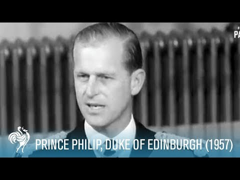 Prince Philip At The Mansion House (1957)