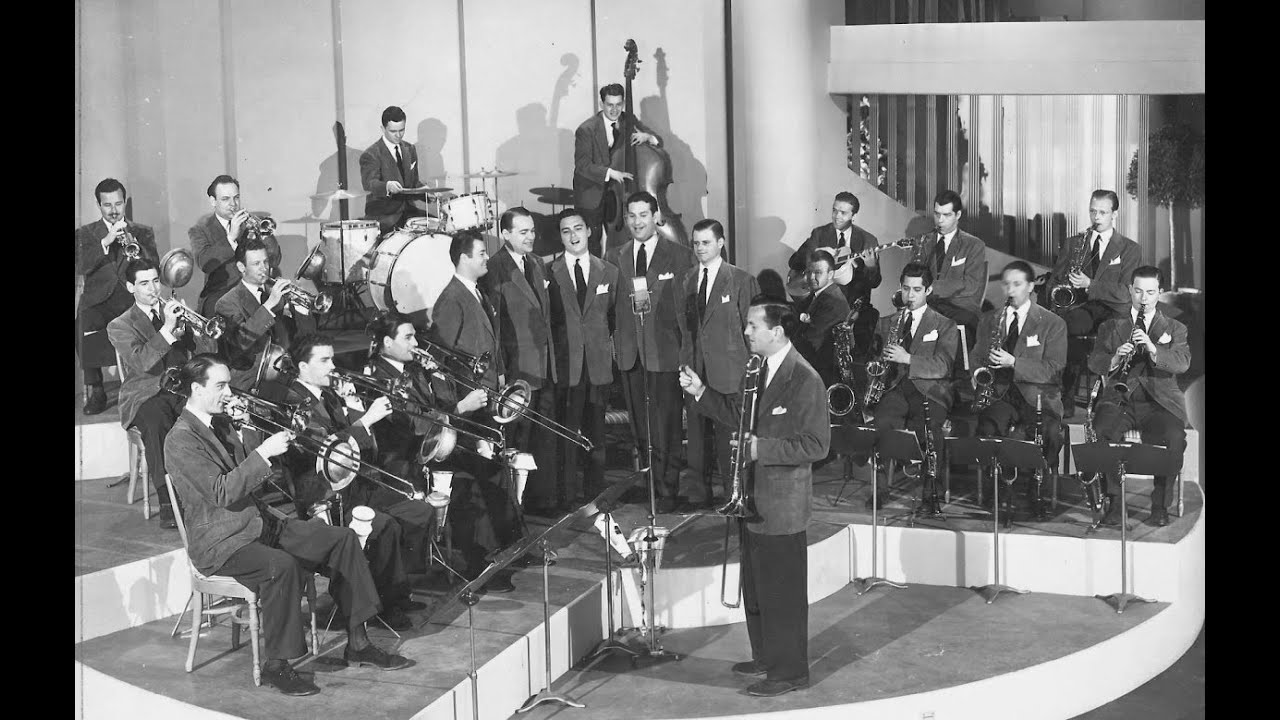 My grandfather playing in the Glenn Miller Orchestra.
