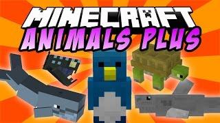 ANIMALS PLUS: Ballenas, Pingüinos , Tiburones, Tortugas, Serpientes - Minecraft Mod 1.9/1.8/1.7.10