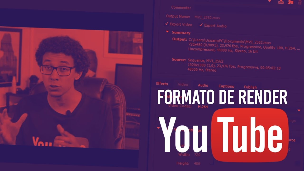 formato de video youtube