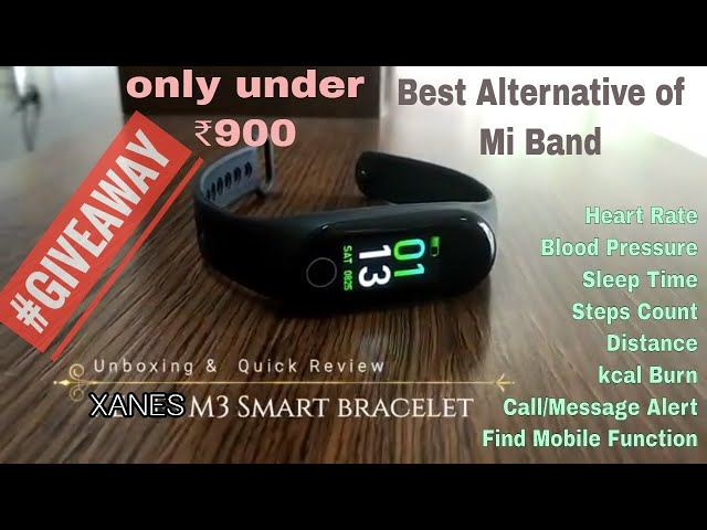 Best Alternative of Mi Band | Xanes M3 Smart Band Unboxing & Review #Giveaway🙂