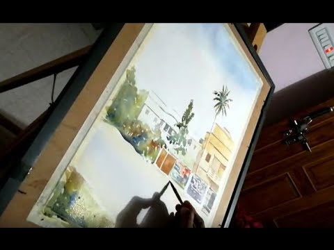 Watercolor painting demo