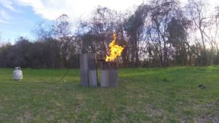 Experiment Flamethrower vs. Axe Body Spray EXPLODES!!